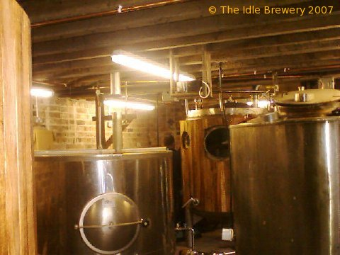 A picture of the brewing plant of The Idle Brewery