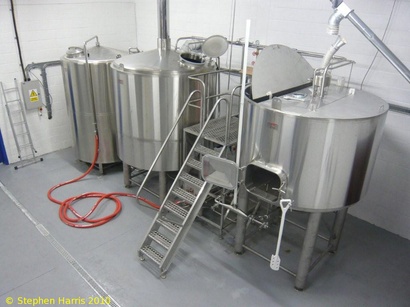 A picture of the brewing plant of