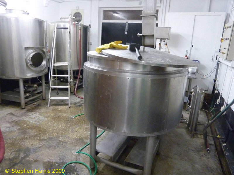 A picture of the brewing plant of Brodies Beers