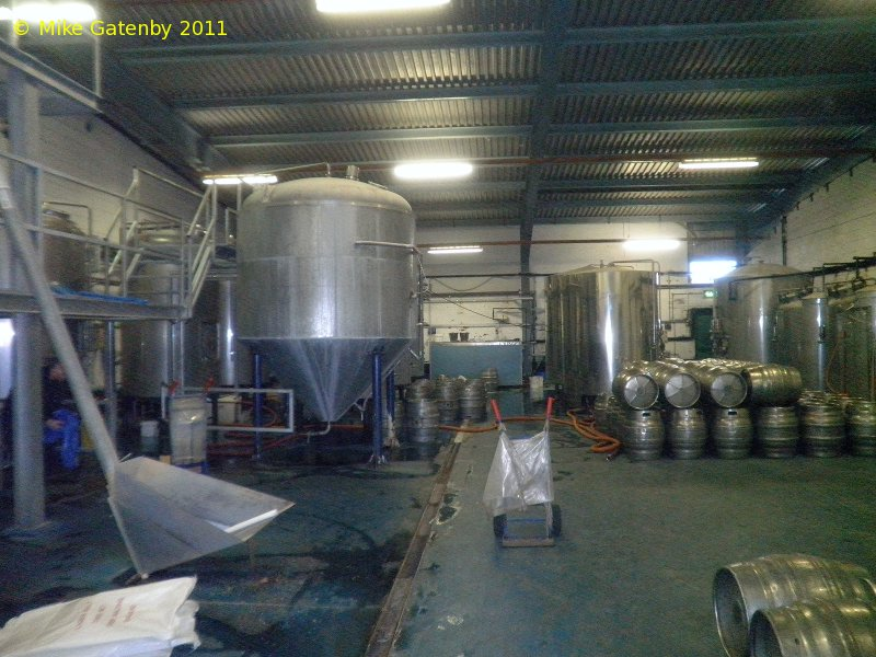 A picture of the brewing plant of Oakwell Brewery