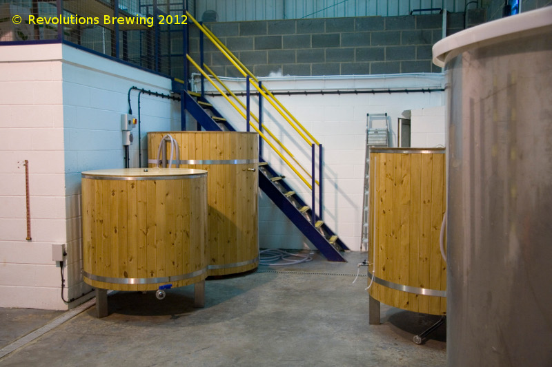 A picture of the brewing plant of The Revolutions Brewing Company Ltd
