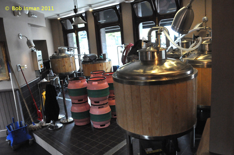 A picture of the brewing plant of The Botanist Brewery & Kitchen