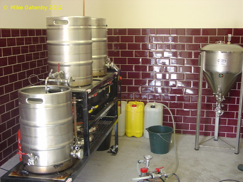 A picture of the brewing plant of Firefly Brewery