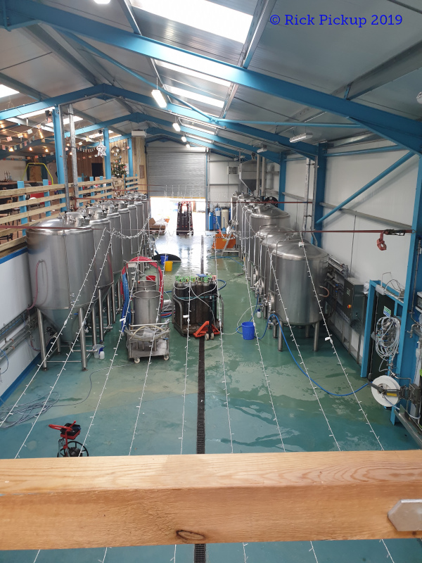 A picture of the brewing plant of Farm Yard Ales Ltd