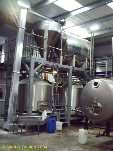 A picture of the brewing plant of Harviestoun Brewery Ltd