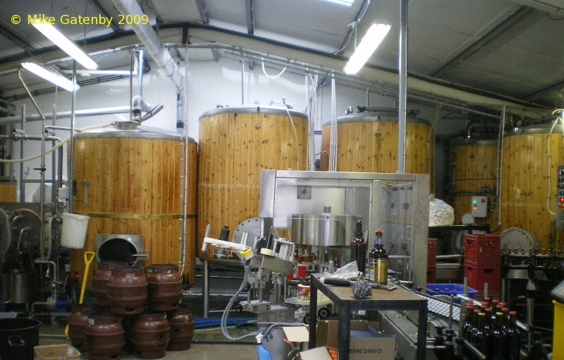 A picture of the brewing plant of Keltek Brewery