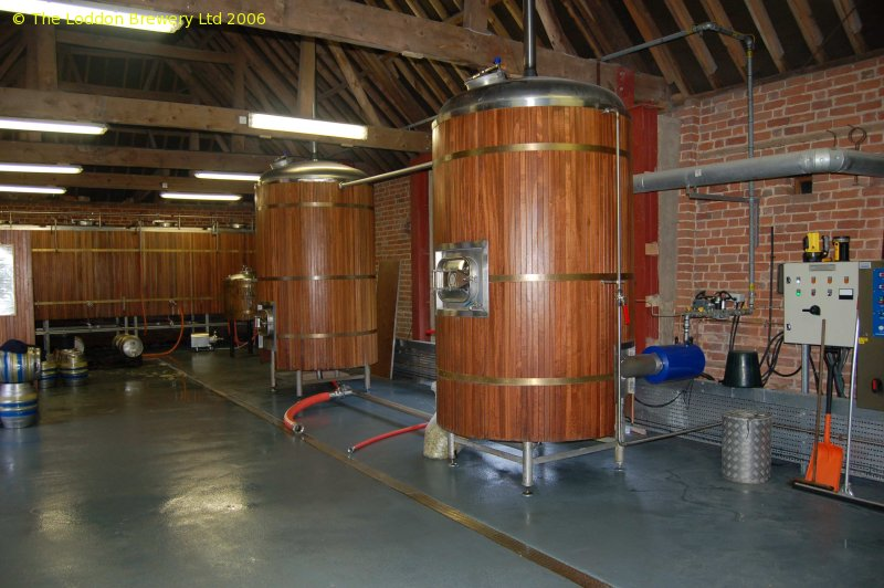 A picture of the brewing plant of Loddon Brewery