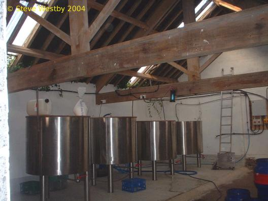 A picture of the brewing plant of WF6 Brewing Company